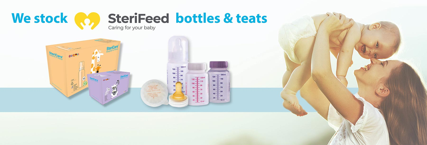 We stock SteriFeed bottles & Teats