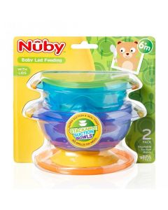 Stackable Suction Bowls, Pack of 2