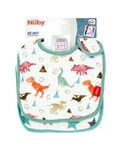 Nuby Muslin Snug N Dry Bibs, Pack of 2 - Chosen At Random