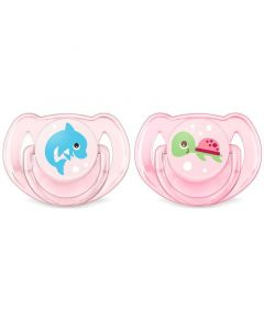 Philips Avent Classic Soothers - Animals, Pink, Pack of 2