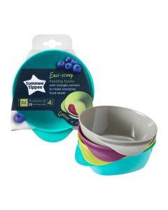 Tommee Tippee Easy Scoop Feeding Bowls, Pack of 4
