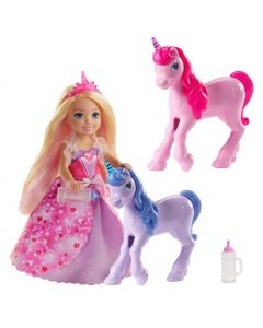 Barbie Dreamtopia Chelsea Princess & Baby Unicorns