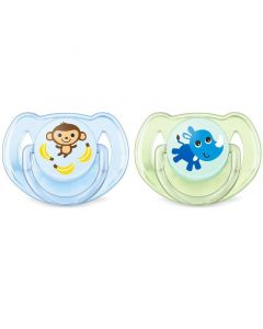 Philips Avent Classic Soothers - Monkey & Rhino