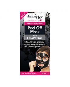 DermaV10 Deep Cleansing Charcoal Peel Off Mask, 50ml, Pack of 2