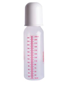 Sterifeed Sterile Baby Bottle with Standard Teat and Cap, Reusable, 250ml (8oz), Pack of 1