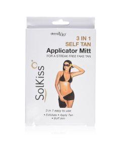 Derma V10 Solkiss 3 in 1 Self Tan Applicator Mitt