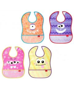 Nuby Catch All Peva Bibs, Pack of 2 - Chosen At Random