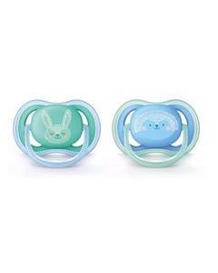 Philips Avent Ultra Air Soother Boy 6-18m , Pack 2