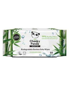 The Cheeky Panda 100% Bamboo Baby Wipes, Pack of 64