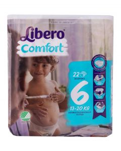 Libero Comfort, Size 6 Nappies, Pack of 22