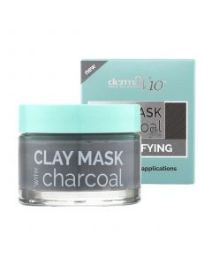 Derma V10 Detoxifying Clay Mask With Charcoal, 50ml