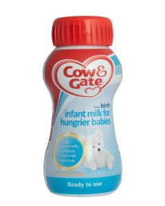 Cow and Gate Hungry Milk, Ready To Use, 200ml, Pack of 12 - EXPIRES 30/11/20