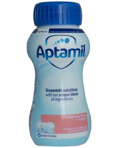 Aptamil Hungry Milk Ready To Use, 200ml, Pack of 8 - EXPIRED 05/11/20