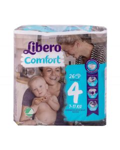 Libero Comfort, Size 4 Nappies, Pack of 26