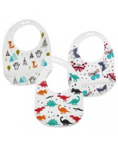 Super Soft Silicone Bib, Pack of 1 - Chosen at Random