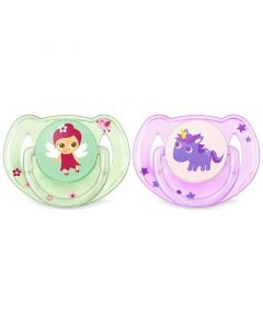 Philips Avent Classic Soothers - Fairy Enchanted Garden, Pack of 2