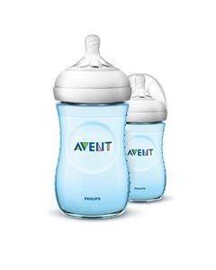 Phillips Avent Natural Bottle Blue 260ml 2PK