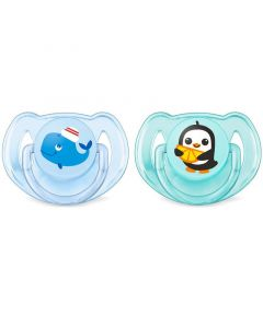 Philips Avent Classic Soothers - Animals, Blue, Pack of 2