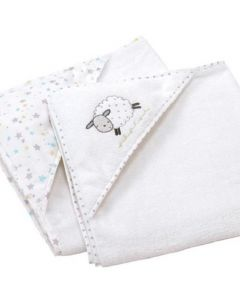 Hooded Bath Towels, Silvercloud Counting Sheep, Pack of 2
