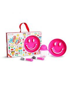 Munchkin Happy Toddler Dining Set - Pink