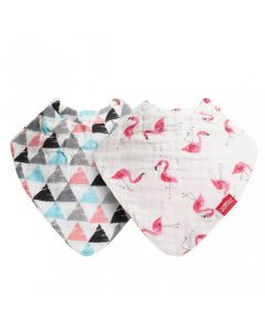 Nuby Muslin Bandana Bibs, Twin Pack, Various Designs
