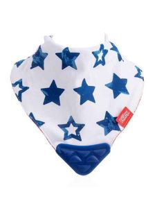 Nuby Bandana Bib with Teether 2 Pack - Helicopter/Stars