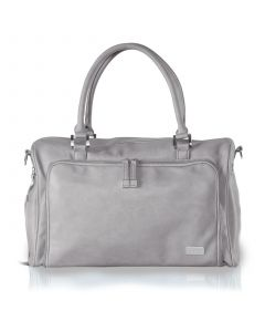 Isoki Double Zip Satchel, Light Grey