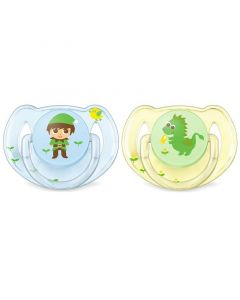 Philips Avent Classic Soothers - Elf Enchanted Garden, Pack of 2