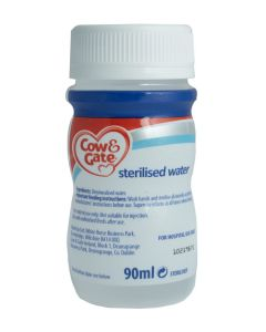 Cow & Gate Sterilised Water - Ready to Feed, 90ml, Box of 24 Bottles - BOX DAMAGED CONTENTS OK